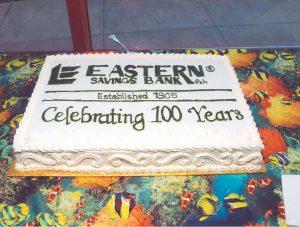 Eastern Savings Bank 100 Year Cake